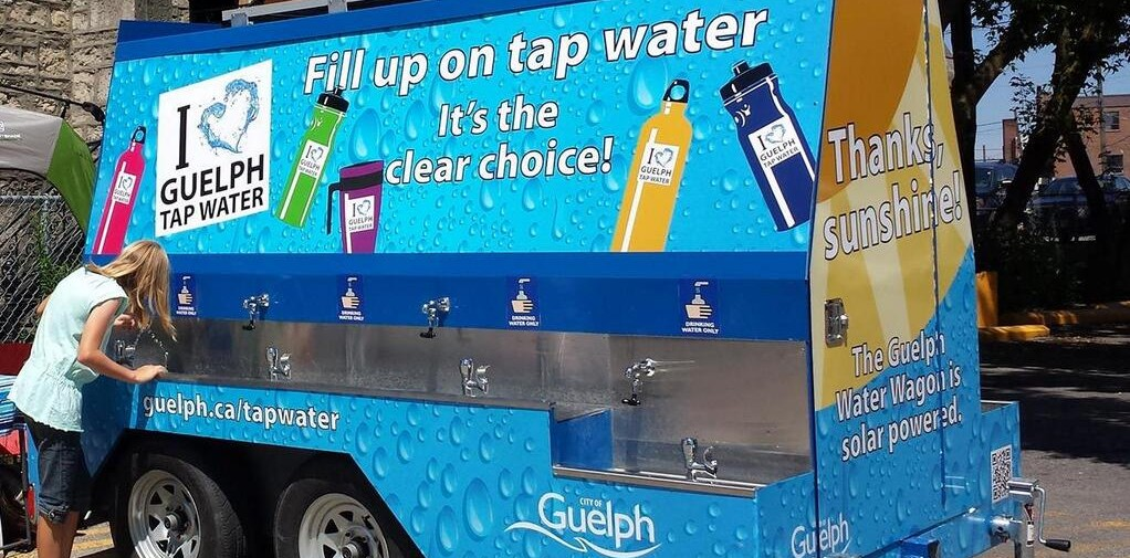 The Quench Buggy water station